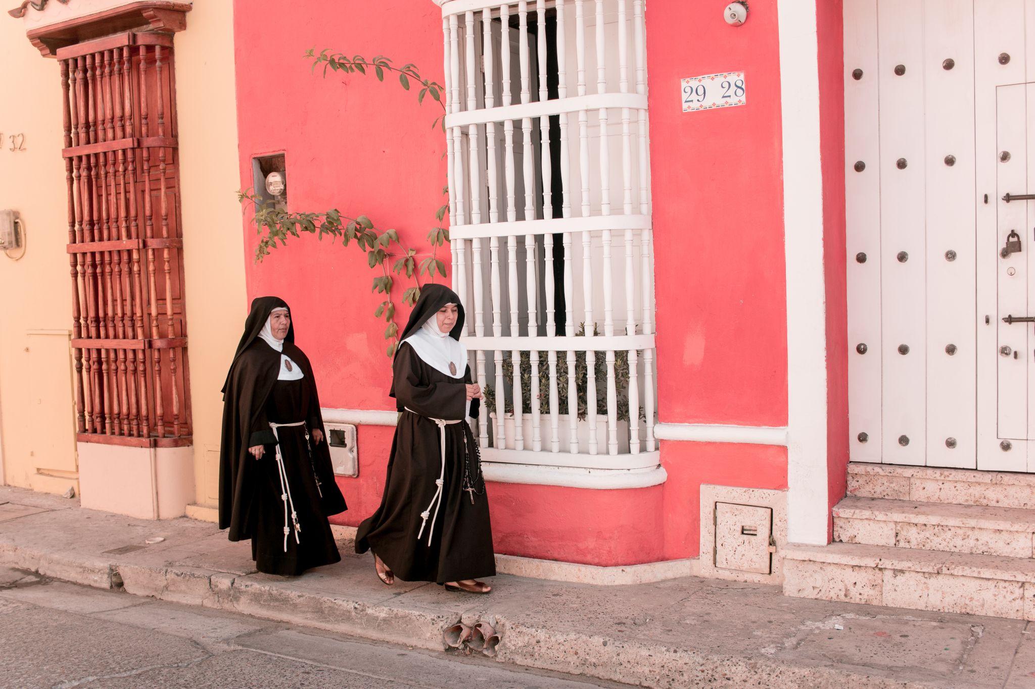 Cartagena Getsemani Colombia nuns
