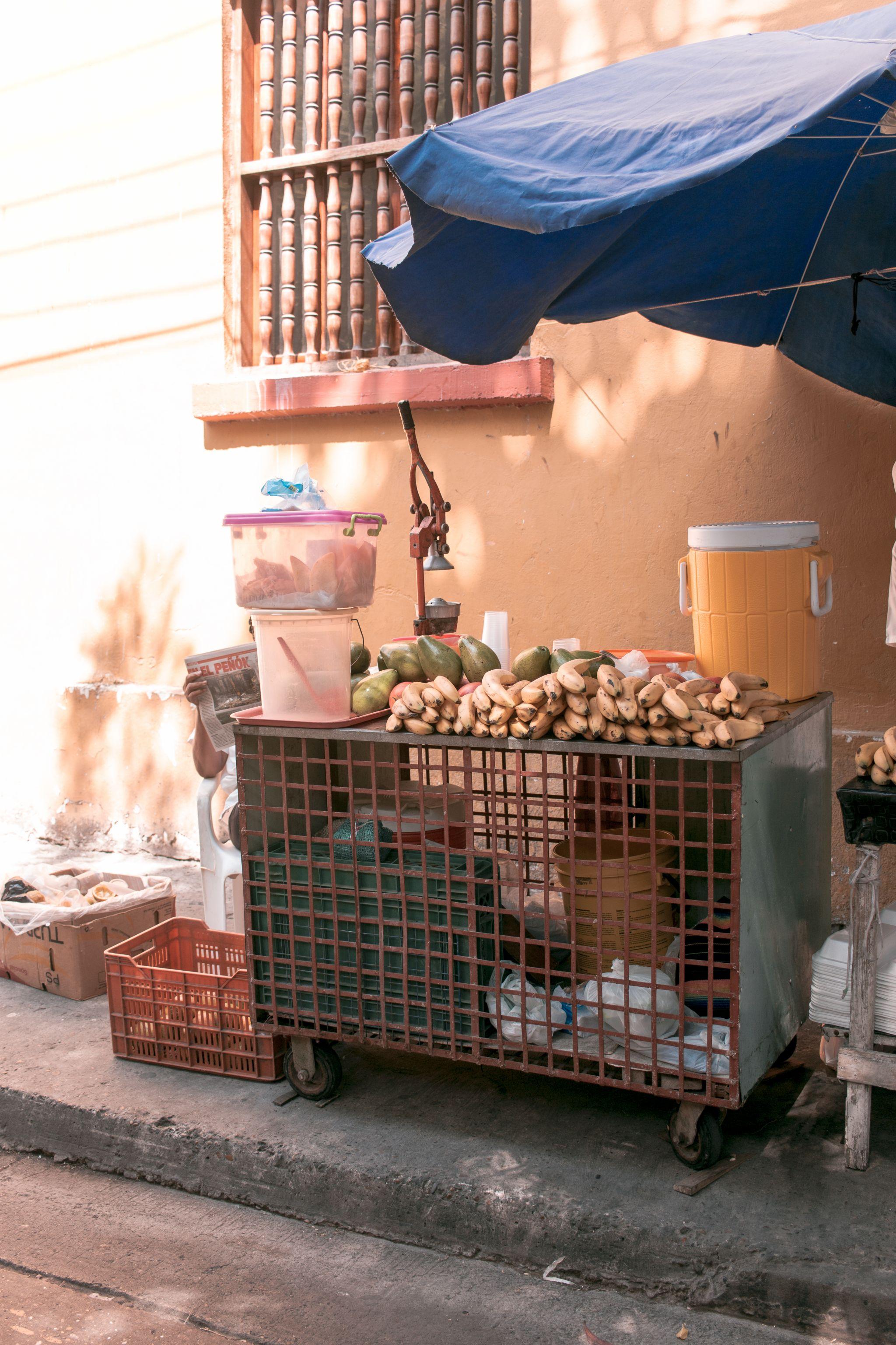 Cartagena Travel Guide Colombia juice seller