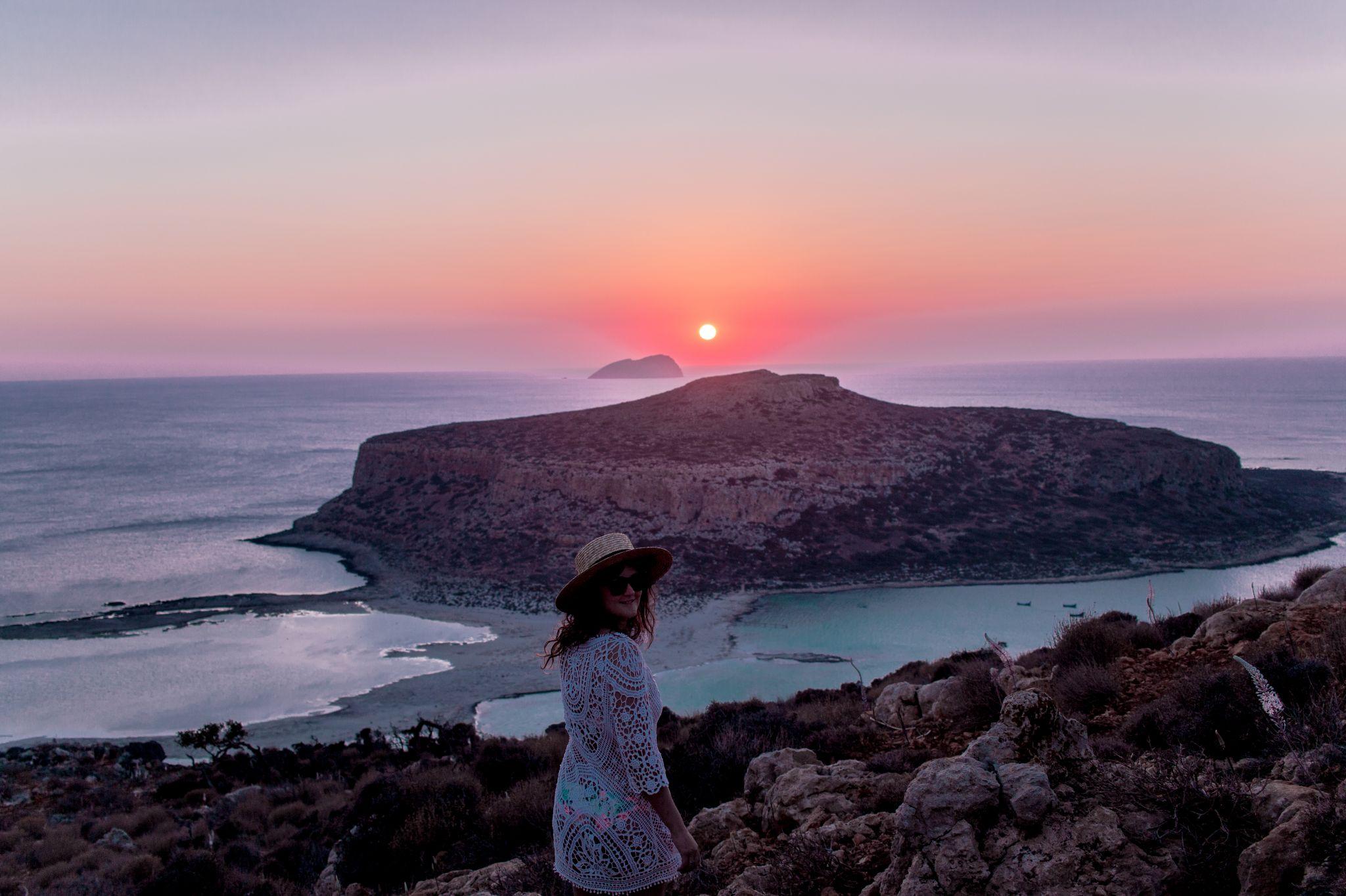 Crete Sunset Balos Beach Balos Lagoon
