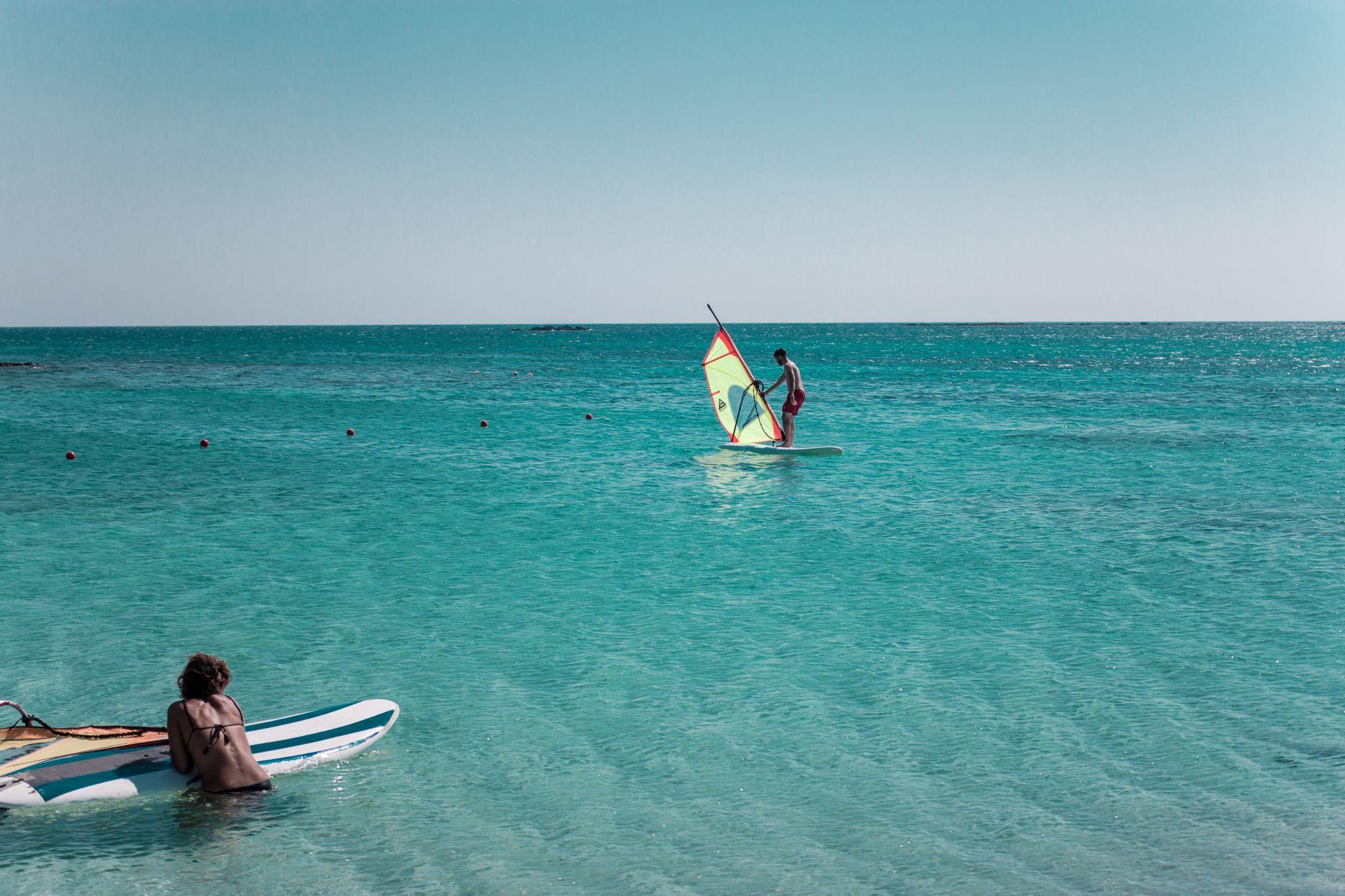 Crete Travel Guide Windsurfing at Elafonisi Beach