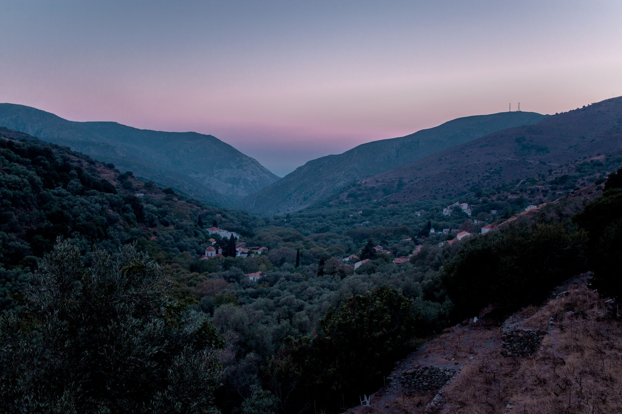 Crete Travel Guide Sunset in the mountains