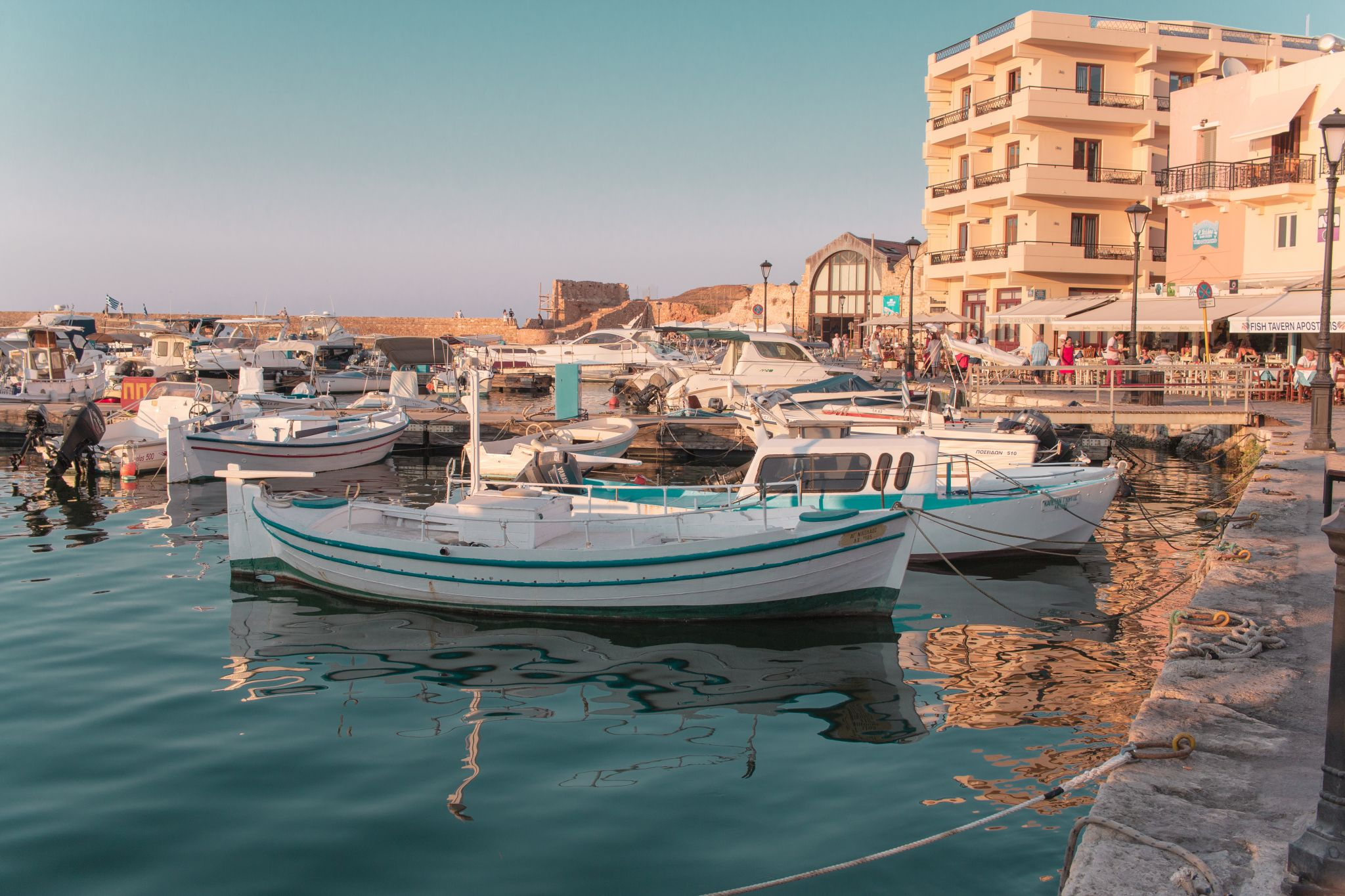 Crete Travel Guide Chania Harbour Golden Hour