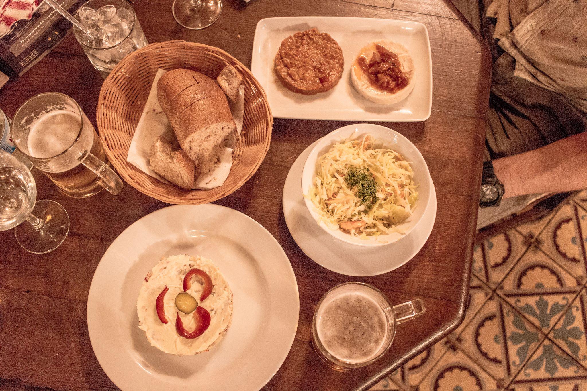 Bucharest Travel Guide Caru Cu Bere traditional romania food salat du boef