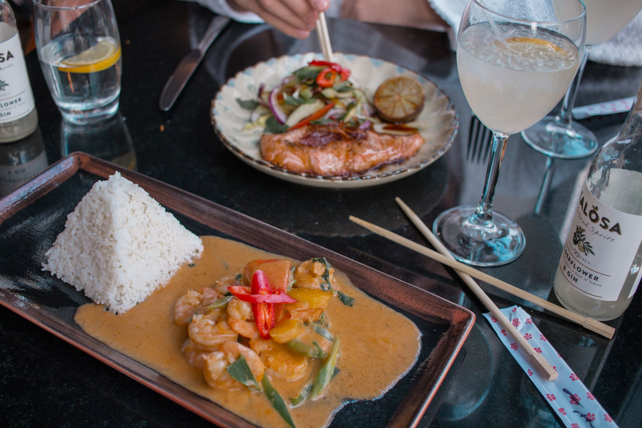 Seaham-Hall-Spa-County-Durham-Spa-Review-Thai-Red-Curry-Prawns-Salmon