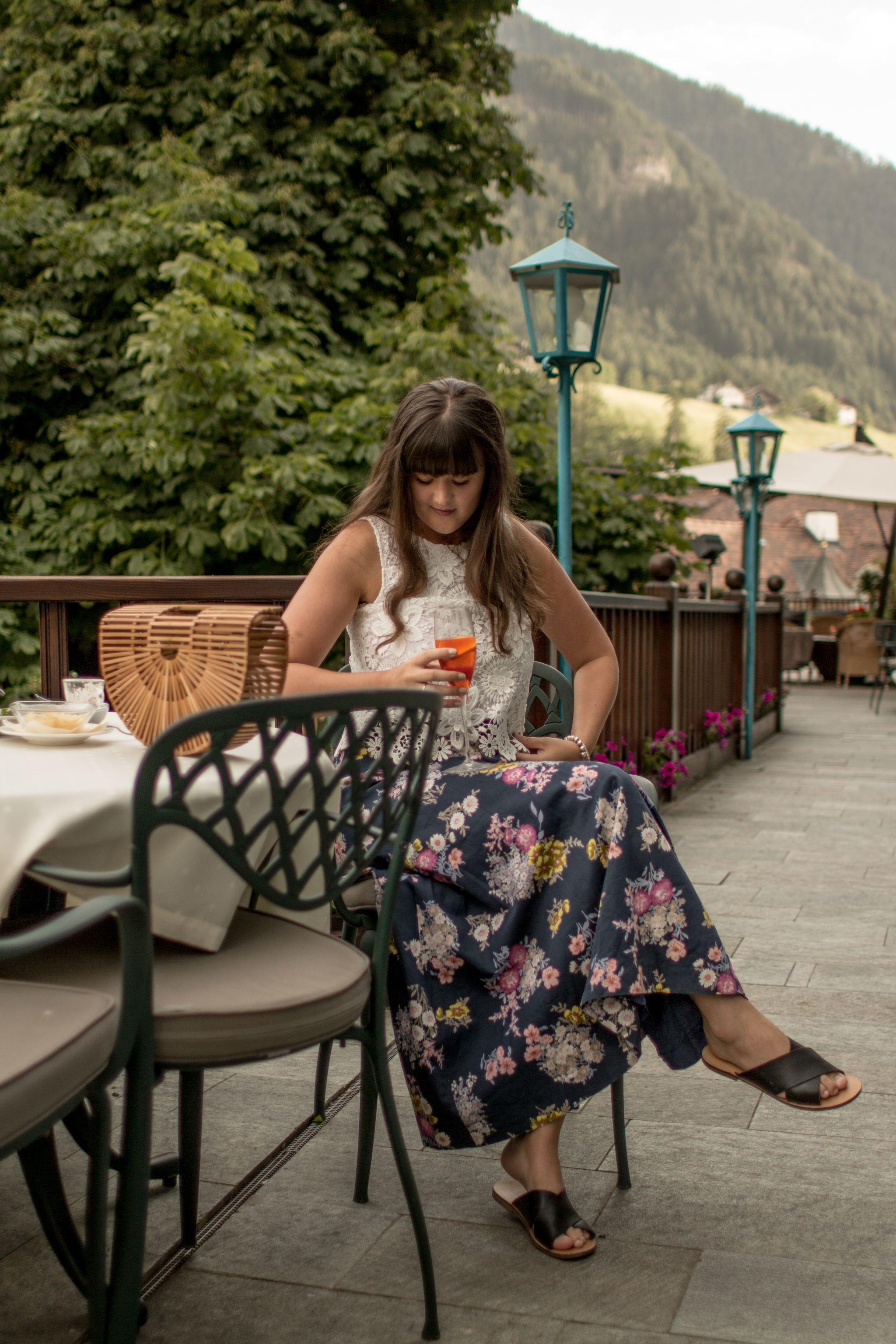 Adler Dolomites Hotel Ortisei Italy Hotel Review Evening Aperitif Gardens