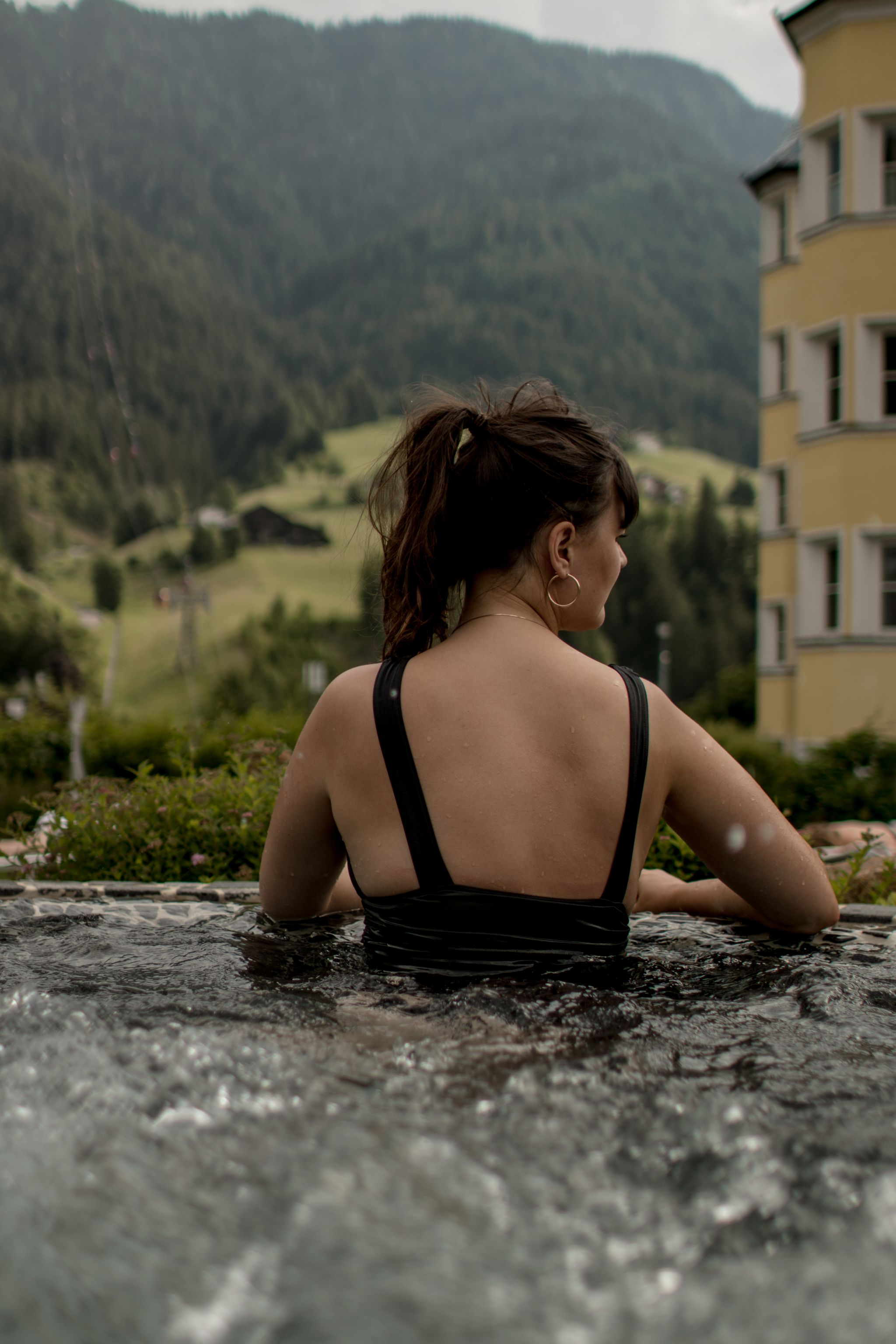 Adler Dolomites Hotel Ortisei Italy Hotel Review Spa Outdoor Hot Tub View_