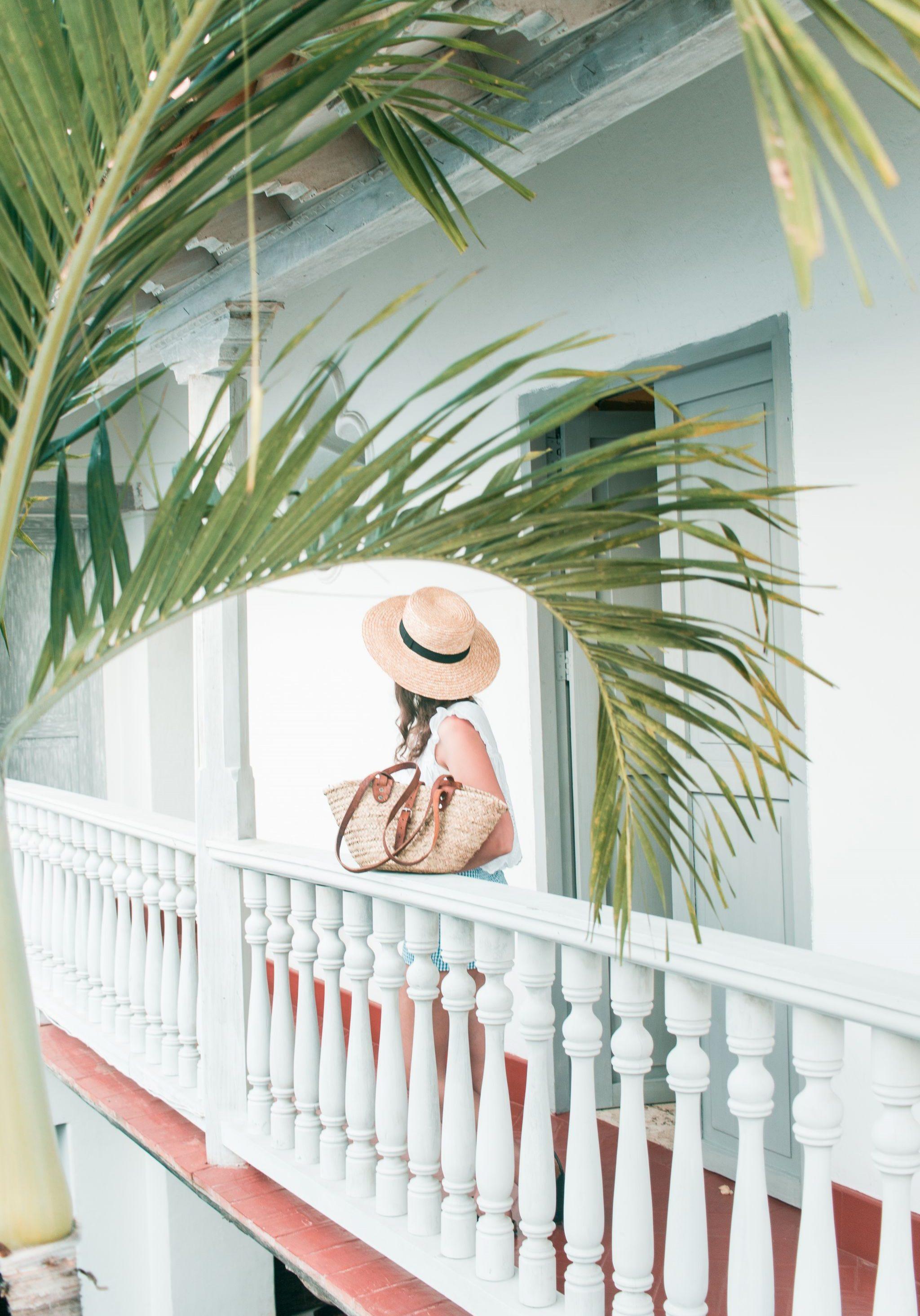Cartagena Travel Guide Colombia Casa de la Tabalada outfit